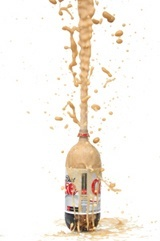 Mentos Diet Coke Geyser  Drop Mentos into a bottle of soda and run away from the 20 foot geyser