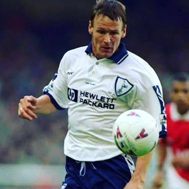 Spurs legend, teddy sheringham in this cracking home shirt from 1995 - tap link in bio to take a look #thfc #tottenham #spurs #coys #football #footballplayer #footballshirt #retro #retrofootball #vintage #vintagefootball #90s #90sfootball #soccer #soccerjersey #soccerplayer #premiership #premierleague #sheringham #teddysheringham