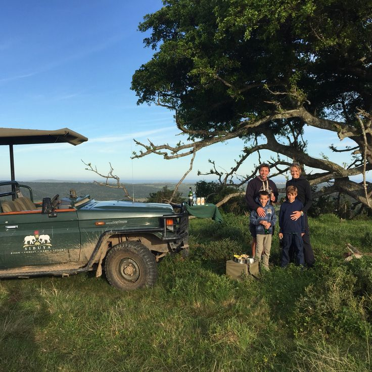 Sibuya Game Reserve #Family enjoying the #gamedrive #Big5 #KentononSea, #EasternCape, #SouthAfrica