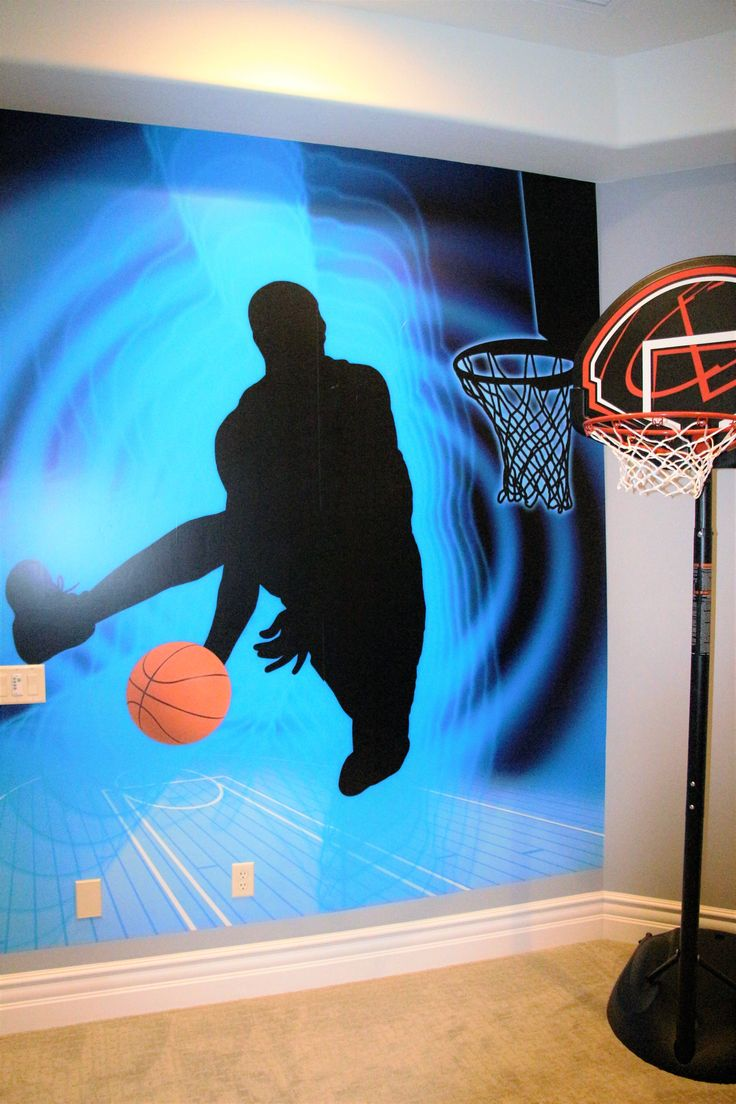 Exceptional A Teen Boyu0027s Basketball Bedroom Using Magic Murals. Searching For Moments Design