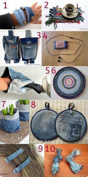 Raccolta di idee 10 tutorial per riciclare i vecchi jeans