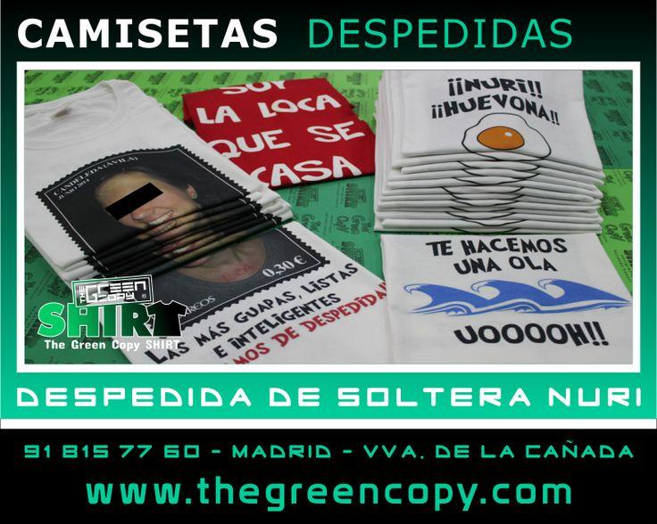 Impresión de Camisetas Personalizadas para Despedida de Soltera de Nuria en MADRID - Tienda de Serigrafía Textil