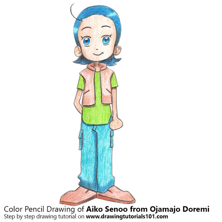 Aiko Senoo from Ojamajo Doremi with Color Pencils