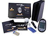 smartLAB sprint nG Blutzuckermessgerät mg/dL Starterset | Blutzuckermessgerät für den Diabetes Alltag | NUR mit smartLAB nG Teststreifen | Präzise Blutzuckermessung mit großem Display
