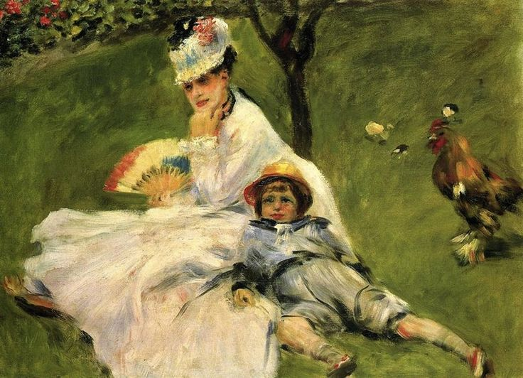 Pierre-Auguste Renoir: Camille Monet and Her Son Jean in the Garden at Argenteuil, 1874