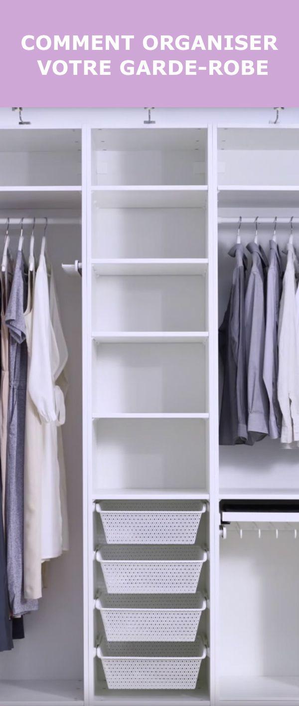Votre penderie de rêve est à portée de main ! Alors que vous vous apprêtez à mettre de côté les vêtements d'hiver pour la nouvelle saison, un peu de ménage peut faire le plus grand bien. IKEA est là pour vous simplifier la tâche en vous apprenant les bases de l'organisation. Cliquez ici pour visionner la vidéo où notre experte vous donnera tous les trucs pour être un pro du rangement.