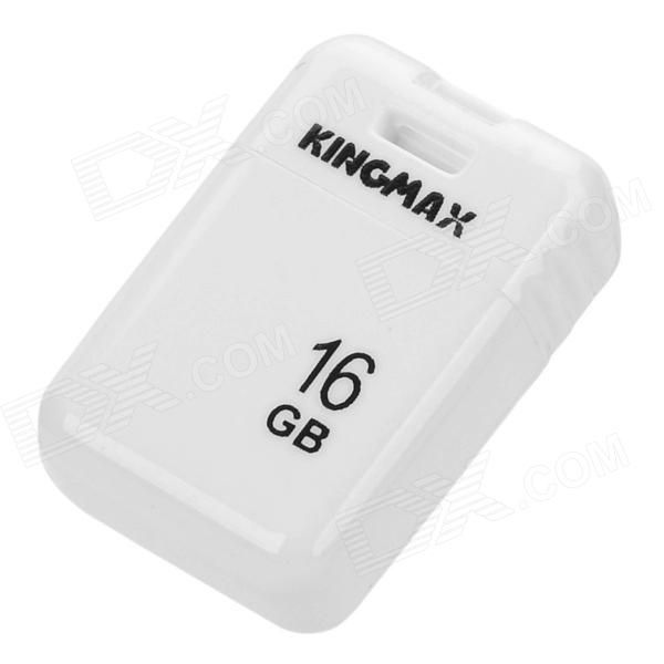 Brand: KINGMAX; Model: PI-03; Quantity: 1; Color: White; Material: Plastic; Capacity: 16 GB; Data Interface: USB 2.0; Read Speed: 7 MB/s; Write Speed: 4 MB/s; Other Features: Supports OS: Win 8 / 7 / Vista / XP / 2000; Waterproof, small and lightweight; Suitable for car speaker, laptops and tablets, etc; Packing List: 1 x USB flash drive1 x Strap (7cm); http://j.mp/1vnPTUd