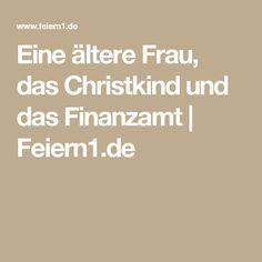 Eine ältere Frau, das Christkind und das Finanzamt   Feiern1.de