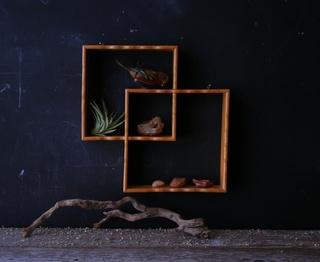 Wall Shelf Wood Scan Design