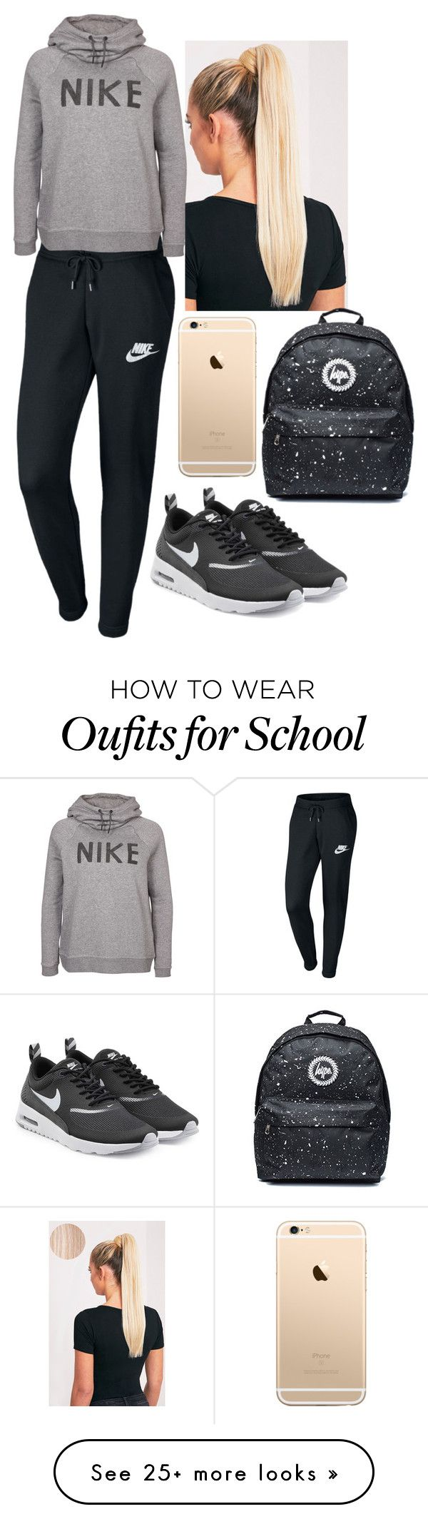 """""""Comfy school ootd"""" by tessajeane on Polyvore featuring NIKE"""