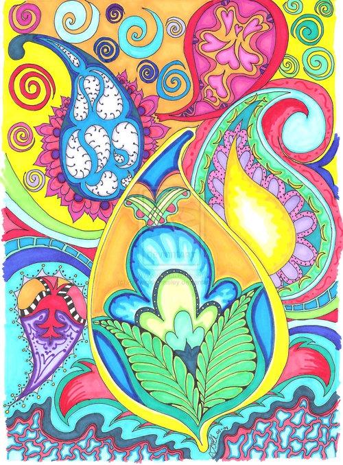 paisleyPaisley Colors, Art Things, Painting Paisley, Paisley Pattern, Paisley Dreams, Pretty Paisley, Art Inspiration, Sweets Art, Paisley Art