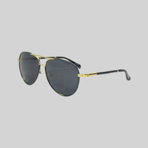 The Row sunglasses black and gold Aviator Therow