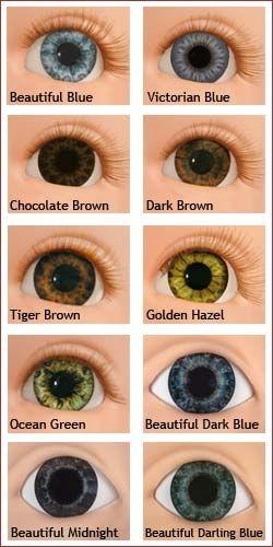 Real Eye Color Chart   eye color