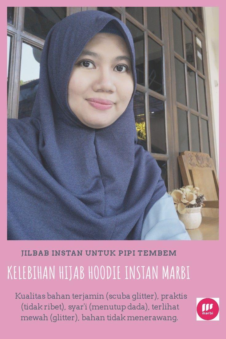 Jilbab Instan Untuk Pipi Tembem Wajah Hoodie Dada