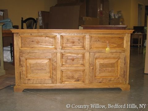 Rustic Pine Country Style Custom Dresser/buffet/credenza, Natural Finish   Country Willow