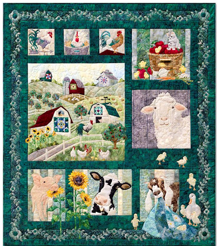 360 best BARN'S IN FABRIC images on Pinterest | Patchwork, Cows ... : farm quilt patterns - Adamdwight.com