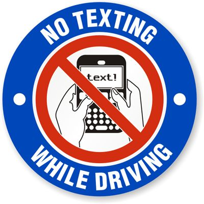 Put the phone down! If it's an emergency, pull over and text. Don't do it at a red light or a stop sign!
