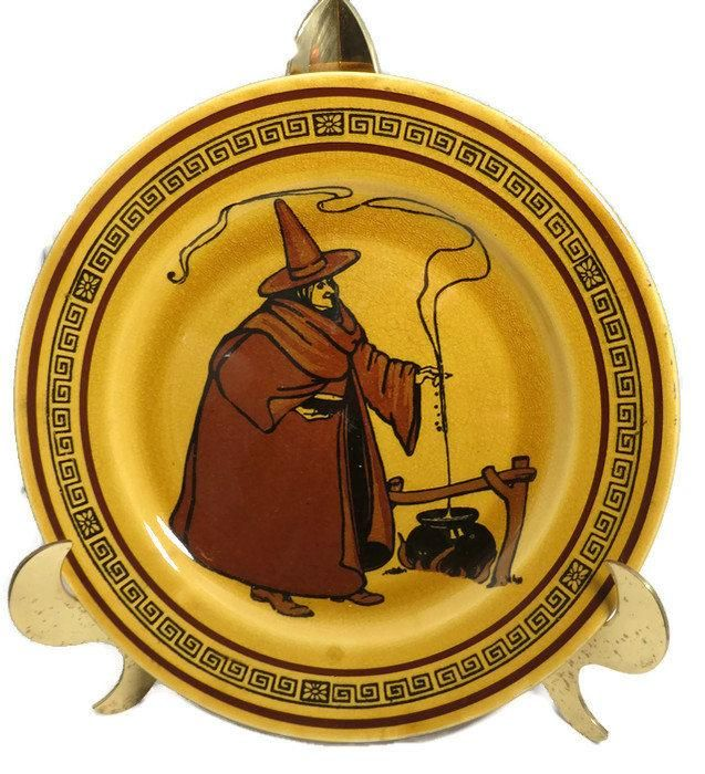 Antique Royal Doulton Witch Plate, Holbein Witches Series Ware J2735