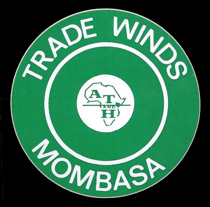 Trade Winds Mombasa kenya Luggage Label