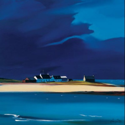 The Row, Tiree Limited Edition - ART PRINT BY PAM CARTER, SCOTTISH ARTIST
