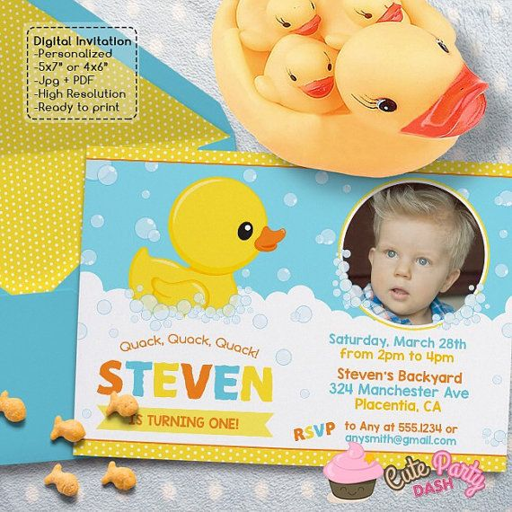 11 best Rubber Duck Birthday Invitation images – Rubber Duck Birthday Invitations