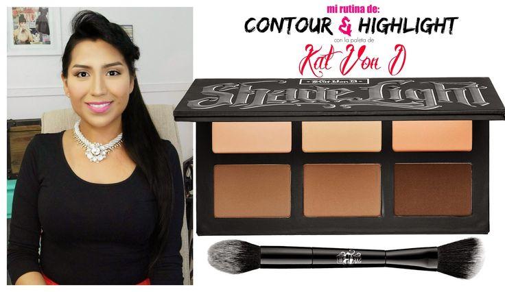 My contour routine ft. Shade + Light by Kat Von D #KatVonD #Contour #Makeup
