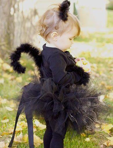 disfraz casero de gato negro para bebé