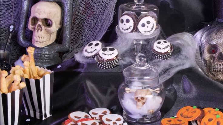 Halloween Skelet Buffet decoratie