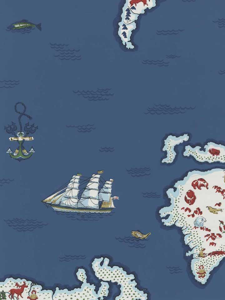 Chart Your Course With This Ralph Lauren Map Wallpaper Americanblinds H O M E Design Pinterest Co