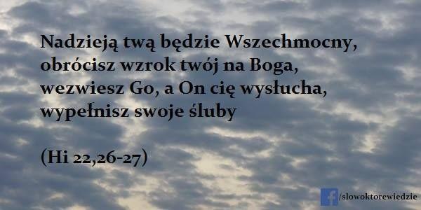 Słowo, które wiedzie: Hi 22,26-27