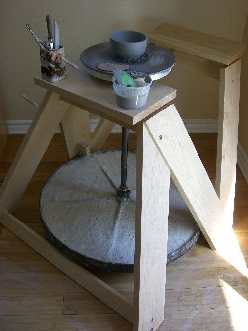 DIY kick wheel...I'm making this!!!!!