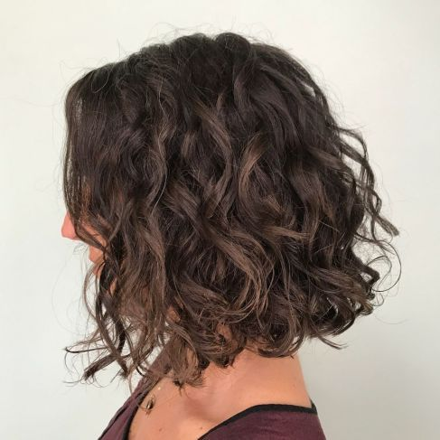65 Different Versions of Curly Bob Hairstyle in 2020   Long curly bob, Wavy bob hairstyles, Long ...
