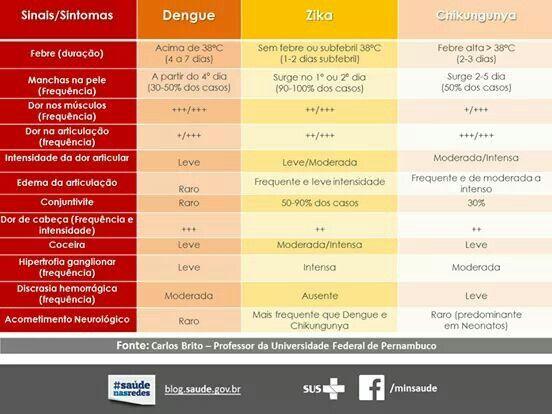 Doenças transmitidas pelo mosquito da Dengue.