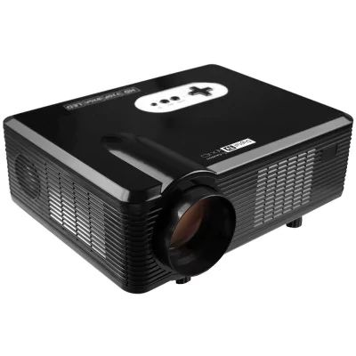Excelvan CL720D - $129.99  24% OFF LED Projector with Digital TV Slot  EU PLUG BLACK 3000LM 1280 x 800 Pixels with Manual Keystone Correction Support 1080P   #Excelvan, #LED, #Projector, #проектор, #gearbest   9418