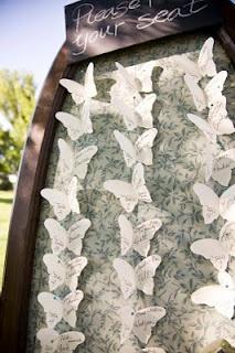 butterflies tableau mariage