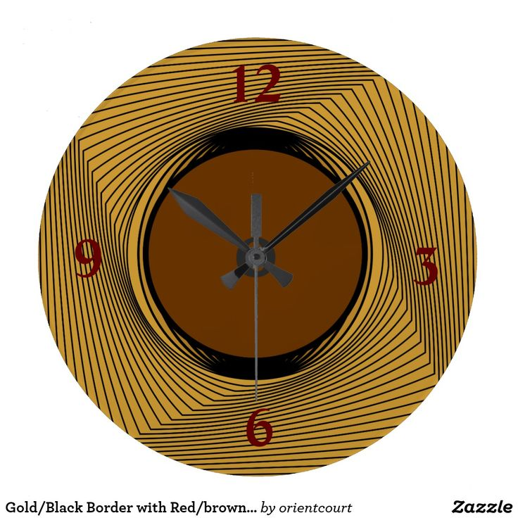 Gold/Black Border with Red/brown Centre >Clocks