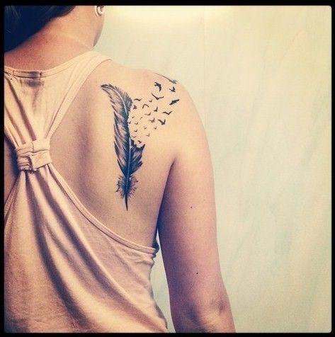 Tatuajes de Plumas para mujeres: ideas, significado y diseños en fotos - Mujeres Femeninas