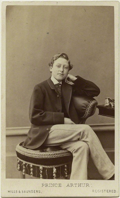 Prince Arthur, third son of Queen Victoria, aged 16, 1866.