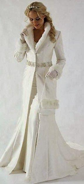 Beautiful coat for winter wedding