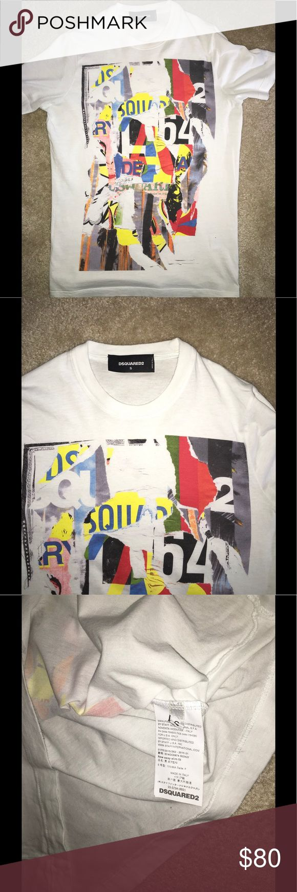 Men's DSquared2 T-Shirt Men's size small.... Slim Fit.                                      WILL NOT ENTERTAIN LOW BALL OFFERS AND/OR COMMENTS.... SERIOUS INQUIRIES/BUYERS ONLY.. Please don't be fooled by the fakes on PASHMARK..All of our products are GUARANTEED 100% AUTHENTIC(I STAND BEHIND THAT), so buy with CONFIDENCE....... CHECK OUT OUR OTHER ITEMS FOR SALE... DSQUARED Shirts Tees - Short Sleeve