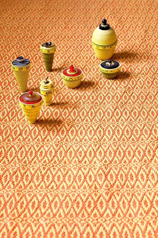 Fair Isle Paprika/Curry Cotton Woven Rug