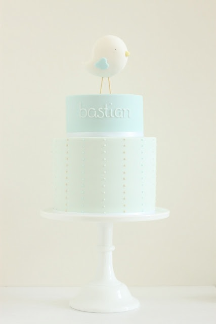 hello naomi: bastian's little bird christening cake!