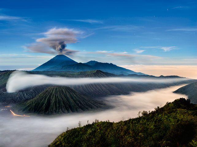 John Stanmeyer's three volcanoes, East Java, Indonesia, 2008