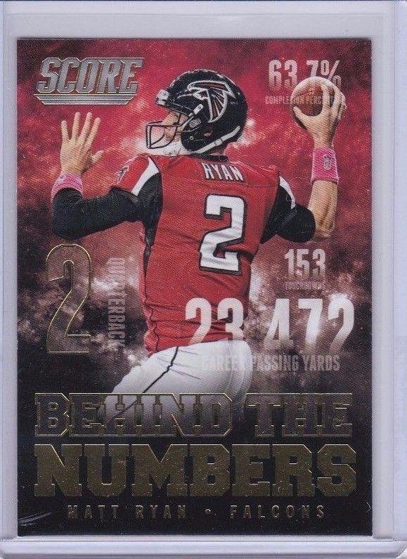 2014 Score Behind the Numbers Gold Matt Ryan Atlanta Falcons QB Sports Card #AtlantaFalcons