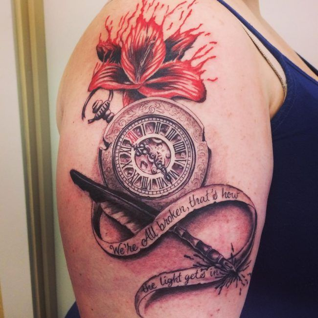 pocket watch tattoo6