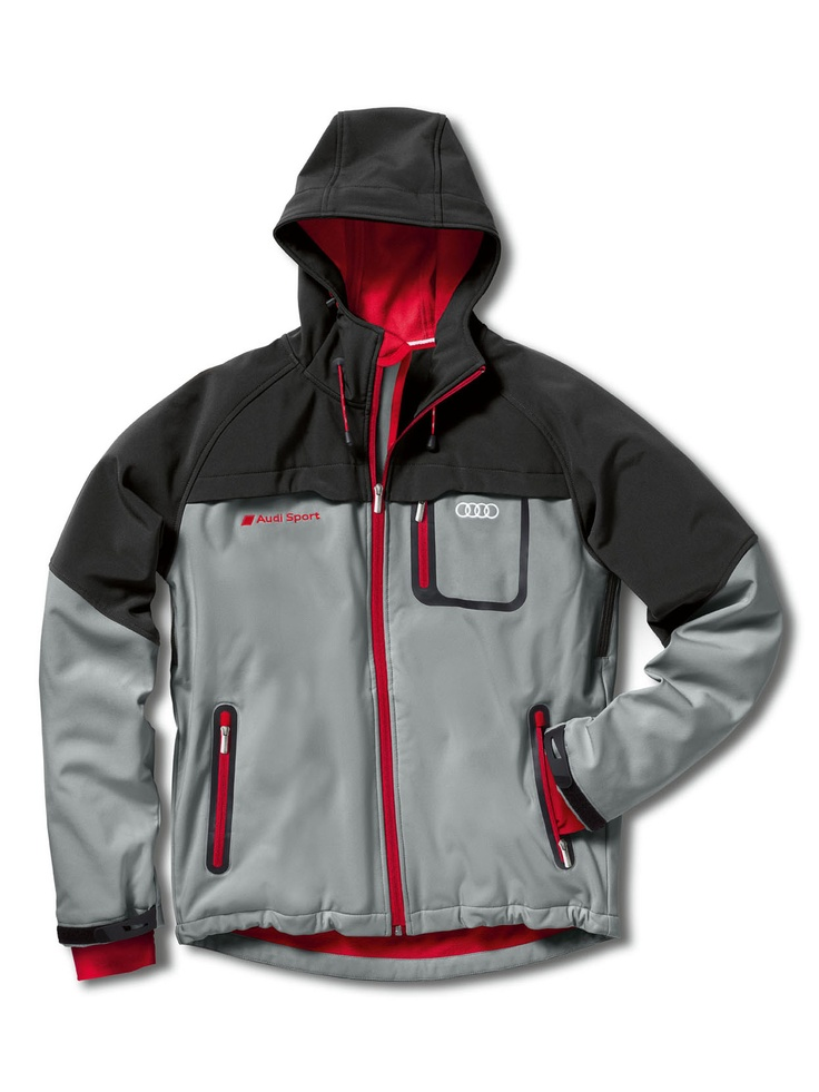 Men's soft shell jacket.    Available from: http://www.m25audi.co.uk