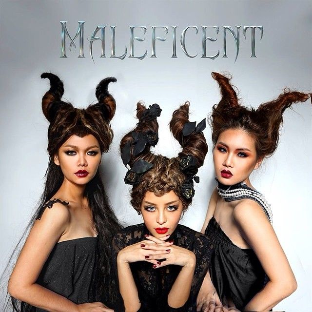 Construct Maleficent horns with hair. Sadly cannot find the original source. #Maleficent X #Pearypieteam