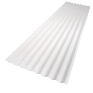 Palruf 26 in. x 12 ft. White PVC Roof Panel 101339 at The Home Depot - Mobile