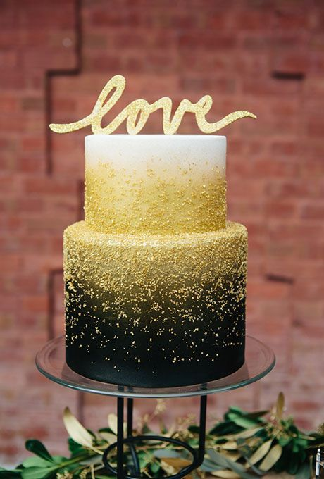 Chances are a black wedding cake isn't what you had in mind for your big day but this dazzling confection will make you reconsider. Baker Julie Almond of Caketopia... #weddings #weddingcakes #cakes.