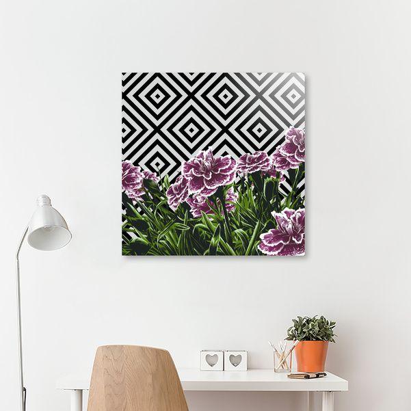 Discover «Garofani», Exclusive Edition Acrylic Glass Print by Paola Morpheus  #pictures #interiordesign #bedroom #bathroom #dinningroom #garofani #summer #dress #dresses #design #moda #moda2017 #summer2017 #geometric #geometria #foglie #banana #leaf #cameradaletto #arredo #arredamento #green #bio #flower #fiori #piante #natura #nature #plant #deco #idee #ideegreen #wedding #gif #buy #paolamorpheus #artist #living #room #livingroom #italy #beauty #house #housesweethouse #spring  #garden